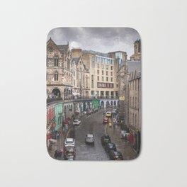 Victoria Street in Edinburgh, Scotland Bath Mat