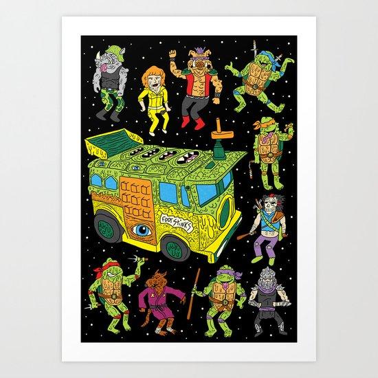 Heroes in a Half Hell Art Print