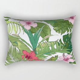Tropical Paradise Spicy Floral Pattern Rectangular Pillow
