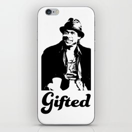 Gifted Micky Blk on Wht iPhone Skin