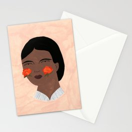 Blooming, Blushing Stationery Cards