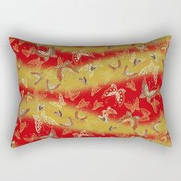Red and Gold butterflies pattern Rectangular Pillow