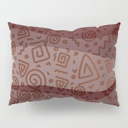 ETHNO PATTERN Modern | red Pillow Sham