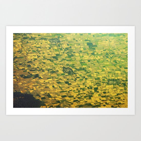 view down - India Art Print