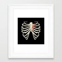 skeleton Framed Art Prints featuring Skeleton by Abigail Larson