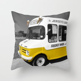 Respect to the man in the Ice Cream Van Throw Pillow