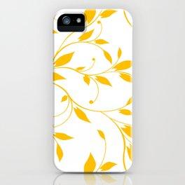FLOWERY VINES | white yellow iPhone Case