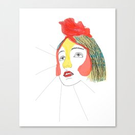 portret of the artist as a young chicken Canvas Print