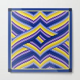 Bargello Quilt Pattern Impression 2 Metal Print