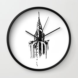 Chrysler Building Sketch Wall Clock