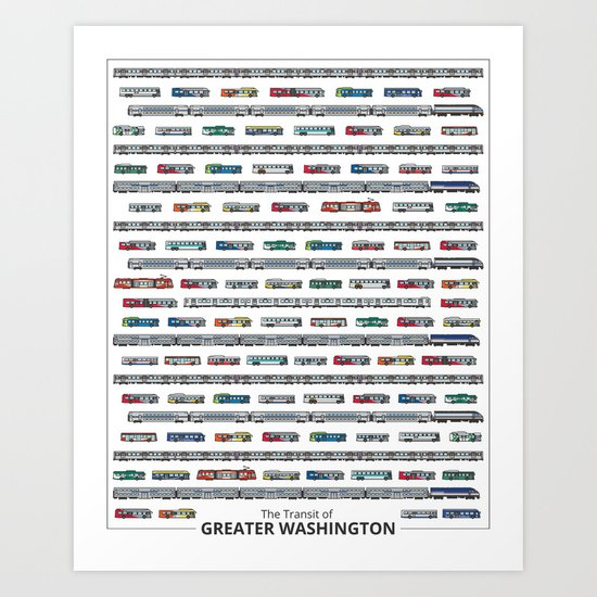 The Transit of Greater Washington Art Print