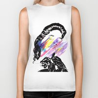pin up Biker Tanks featuring Pin Up  by Maxime Lisch