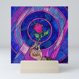 Enchanted Rose Stained Glass Mini Art Print