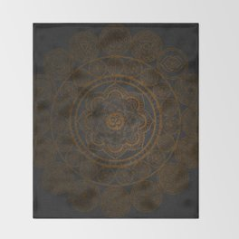 Circular Connections Copper Throw Blanket