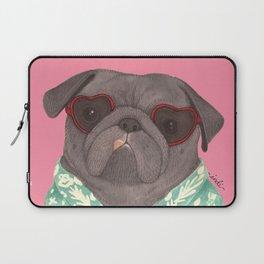Hawaiian Pug Laptop Sleeve