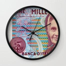 1000 lire Wall Clock
