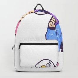 Gamer girl gambles game console PC Backpack