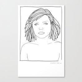 ANDY WARHOL POLAROIDS - DEBBIE-BLONDIE.  PORTRAIT    Canvas Print