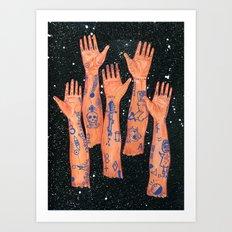 5 Arms Art Print