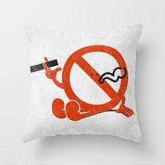 Smoke Break Throw Pillow