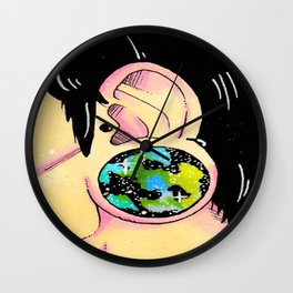 Galaxy gauge Wall Clock