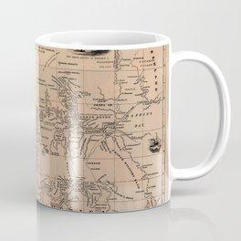 Map of the Northwest Passage 1856 Coffee Mug
