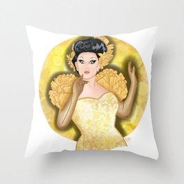 Golden BenDeLaCreme Throw Pillow