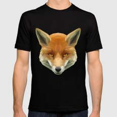 Poly the Fox MEDIUM Black Mens Fitted Tee