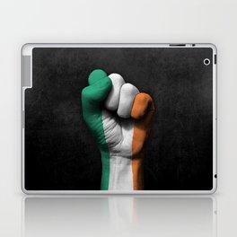Irish Flag on a Raised Clenched Fist Laptop & iPad Skin