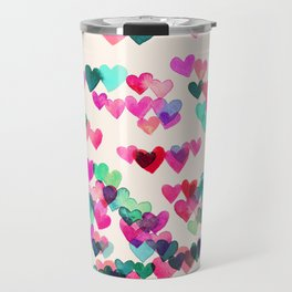 Heart Connections II - watercolor painting (color variation) Travel Mug