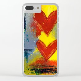 Double Love Clear iPhone Case