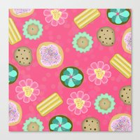 cookies Canvas Prints featuring Cookies by Party Peeps