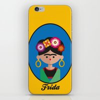 frida iPhone & iPod Skins featuring Frida by Juliana Motzko