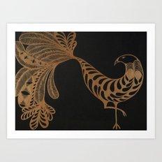 Golden Bird #2 Art Print
