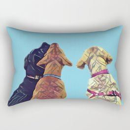 Three Amigos I in aqua Rectangular Pillow