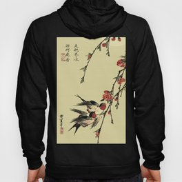 Moon Swallows and Peach Blossoms Hoody