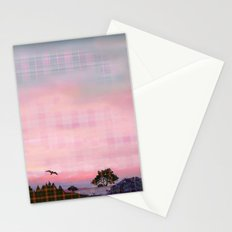 Plaid Landscape Tranquil Sunset Stationery Cards