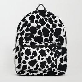 Animal Print Cheetah Black and White Pattern #4 Backpack