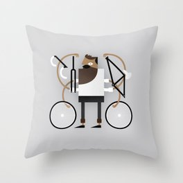 Back to Fixie Business Throw Pillow