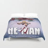 akira Duvet Covers featuring He-Man and the Masters of the Universe : Akira by Dude Doodles