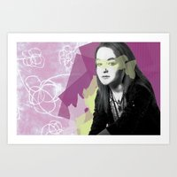 leah flores Art Prints featuring Leah by Birdy Cooper