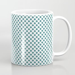 Teal Polka Dots Coffee Mug