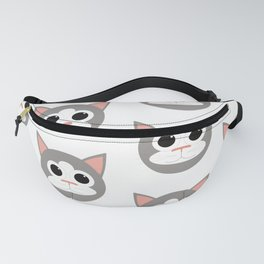 Grey & White Cats Pattern Fanny Pack