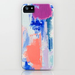 MAVEN 3 // ABSTRACT MIXED MEDIA ON CANVAS iPhone Case