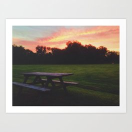 Watch the Sunset Art Print