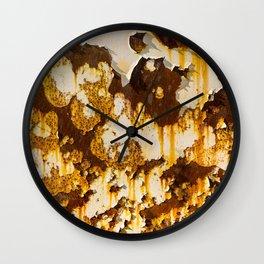 Peeling paint on rust. Wall Clock