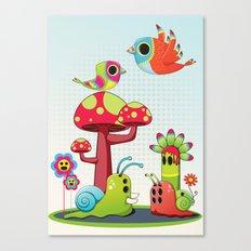 Critter Romance Canvas Print