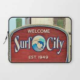 Welcome To Surf City Laptop Sleeve
