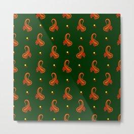 Paisley Pattern Metal Print