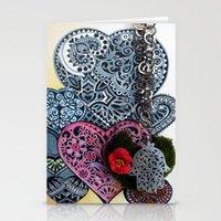 hamsa Stationery Cards featuring hamsa by oxana zaika